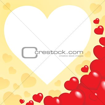 Abstract image with heart theme 6