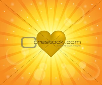 Abstract image with heart theme 7