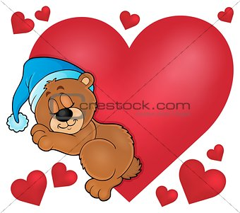 Bear with heart theme image 1