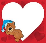 Bear with heart theme image 2