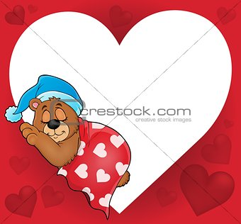 Bear with heart theme image 4