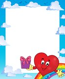 Frame with stylized heart theme 3