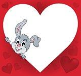 Heart shape with lurking bunny theme 1
