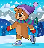 Ice skating bear theme image 2