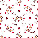 Vector handdrawn seamless pattern for Saint Valentine's day