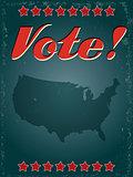 retro vote poster