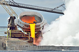 Hot molten iron