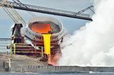 Hot molten iron