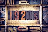 1920s Concept Letterpress Type