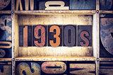 1930s Concept Letterpress Type