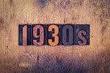 1930s Concept Wooden Letterpress Type
