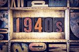 1940s Concept Letterpress Type