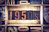 1950s Concept Letterpress Type