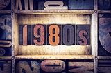 1980s Concept Letterpress Type