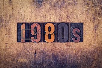 1980s Concept Wooden Letterpress Type
