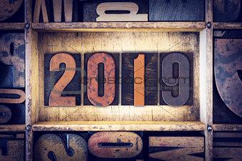 2019 Concept Letterpress Type