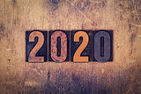 2020 Concept Wooden Letterpress Type