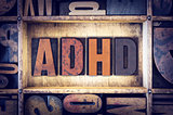 ADHD Concept Letterpress Type