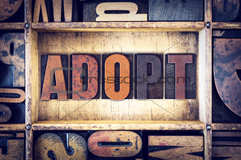 Adopt Concept Letterpress Type