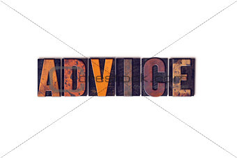 Advice Concept Isolated Letterpress Type