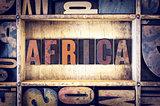 Africa Concept Letterpress Type