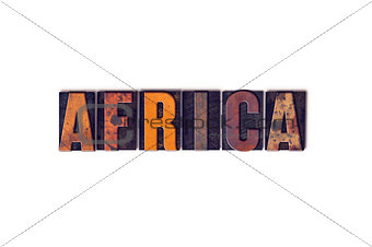 Africa Concept Isolated Letterpress Type