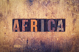 Africa Concept Wooden Letterpress Type