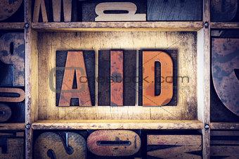 Aid Concept Letterpress Type