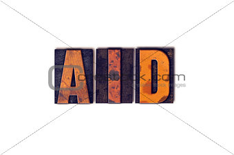 Aid Concept Isolated Letterpress Type
