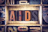 AIDS Concept Letterpress Type