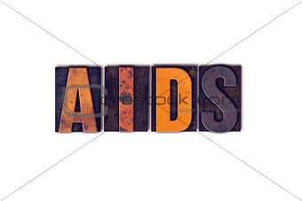AIDS Concept Isolated Letterpress Type