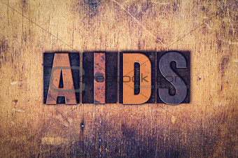 AIDS Concept Wooden Letterpress Type