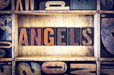 Angels Concept Letterpress Type