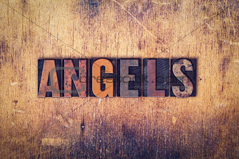 Angels Concept Wooden Letterpress Type