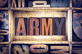 Army Concept Letterpress Type