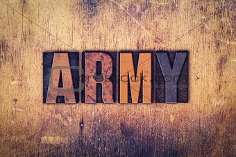 Army Concept Wooden Letterpress Type