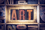 Art Concept Letterpress Type