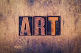 Art Concept Wooden Letterpress Type