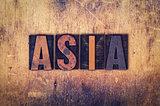 Asia Concept Wooden Letterpress Type
