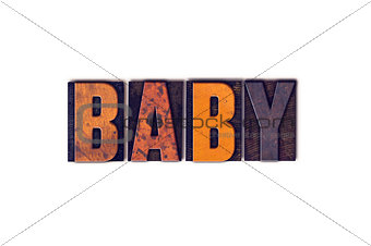 Baby Concept Isolated Letterpress Type