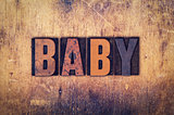 Baby Concept Wooden Letterpress Type