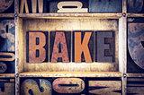 Bake Concept Letterpress Type