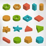 Colorful geometric elements set