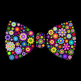 floral bow tie on dlack background