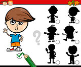 shadows task cartoon for children