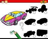 preschool shadows task cartoon