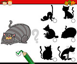shadows task cartoon with cats