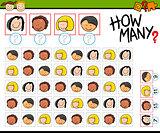kindergarten counting task