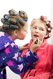 girls play homemakers, do yourself a makeover