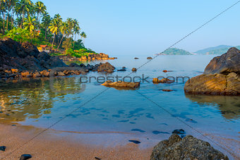 a place for rest and relaxation - a beach in South Goa
